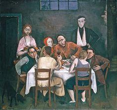 Dinner Party, 1924 by Karl Hofer (German 1878 -1955)