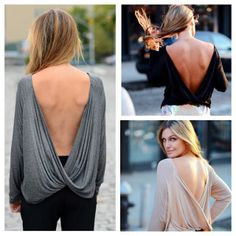 Feeling daring?!! Our Thea Top has an AMAZING cross-over back! Available in 3 colors at EsCloset.com xox