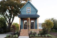 """""""What's fun about smaller spaces is that it really challenges your creativity and makes you maximize the space that you've got,"""" says Joanna. """"From the beginning, the tiny shotgun house had lot of big challenges, but in the end, the reward was huge. Every design element that we got to incorporate really stood out. We love this house."""""""