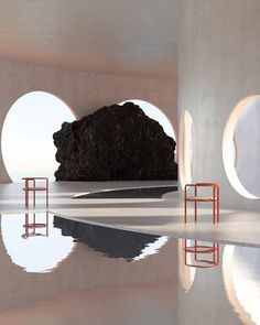 Fabricating Digital Worlds – Imagined Architecture by Artist Alexis Christodoulou – OEN Art Deco Furniture, Furniture Design, Smart Furniture, Furniture Showroom, Furniture Hardware, Steel Furniture, Refurbished Furniture, Furniture Storage, Classic Furniture