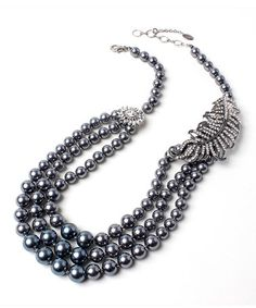 Look at this #zulilyfind! Austrian Crystal & Faux Pearl Baronial Evening Necklace #zulilyfinds