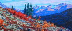 """Valhalla Calling"" by Artist Dominik Modlinski. Oil on Canvas, 32"" x 72"". #CanadianArt"