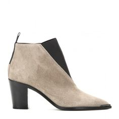 Acne Studios Silo Suede Ankle Boots (227.480 CLP) ❤ liked on Polyvore featuring shoes, boots, ankle booties, suede booties, acne studios, beige booties, bootie boots and suede ankle boots