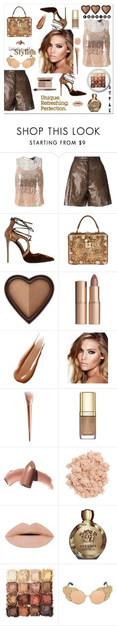 """Unbelievably stylish"" by zabead ❤ liked on Polyvore featuring MaxMara, MM6 Maison Margiela, Le Silla, Dolce&Gabbana, Too Faced Cosmetics, Charlotte Tilbury, Hourglass Cosmetics, Elizabeth Arden, Illamasqua and Versace"