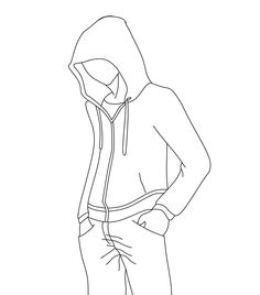 Outline for hoodie designs