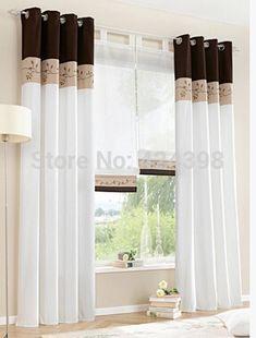 Pas cher haute qualité fenêtre brodé rideaux pour salon chambre cortinas windows vert orange brun, Acheter  Rideaux de qualité directement des fournisseurs de Chine:     les détails du produit      ce style, ou si vous avez besoin s'il vous plaît contactez-nous