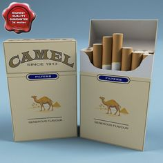 Camel Cigarettes 3D Model - 3D Model