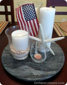 Patriotic summer centerpiece