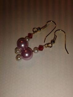 Gold plated pink beads