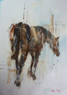 Horse Watercolour and Inks Nicole Pletts