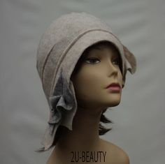 Designer Hat Felted Hat Cloche hat Felted Hat Art Hat by 2UBEAUTY