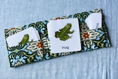 3-part reading cards pouch