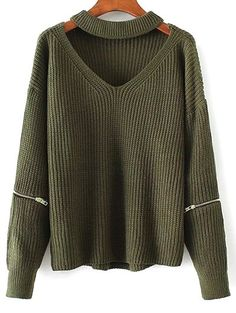 Only $16.99 for Cut Out Chunky Choker Sweater