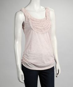 Take a look at this Pink Ruched Tank by Ruby Rose on #zulily today!