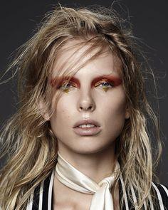 Glam Rocks: Lina Berg By Hannah Khymych For Models.Com! / Graphic #eyeliner