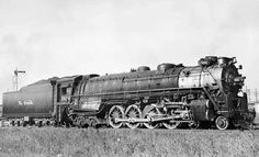 """Denver & Rio Grande Western was the first of five class """"Northern's"""" ordered from Baldwin in These Northern's had drivers and were used for Passenger Service until they retired them in Diesel Locomotive, Steam Locomotive, Train Route, Railroad History, Train Times, Railroad Photography, Model Train Layouts, Steam Engine, Train Tracks"""