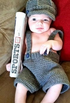 Newsboy Infant Photo Prop by BabblingHook on Etsy, $20.00