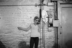 Edie Sedgwick using the only phone in The Factory, NYC, ca. 1965-1967. Courtesy Stephen Shore / 303 Gallery, New York. © Stephen Shore.