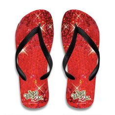 The Wizard of Oz Ruby Slippers Flip Flops.