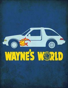 Wayne's World Minimalist Movie Poster Art Print by Chelleonearth