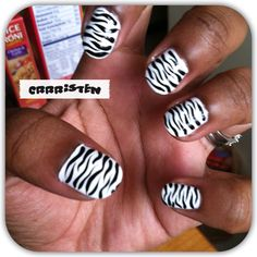I need a toothpick/paintbrush to do this Zebra Acrylic Nails, Backrounds, Paint Brushes, Zebra Print, Nail Ideas, Hair And Nails, Fashion Beauty, Nail Designs, Make Up