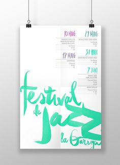 Festival de Jazz de la Garriga 2014' by Chaparro Creative Studio, via Behance