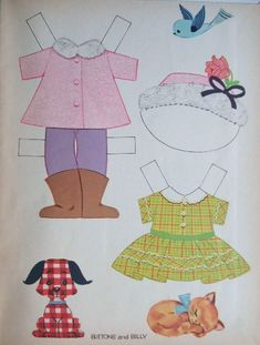 Buttons and Billy* Christmas paper dolls The International Paper Doll Society Arielle Gabriel artist #QuanYin5 Twitter, Linked In QuanYin5 *