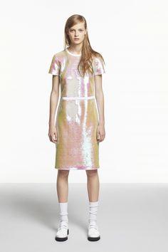 Jil Sanders navy sequined dress