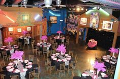 This picture was sent to us by one of our customers. These lovely pink centerpieces were used at a Bat Mitzvah.