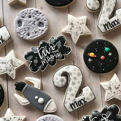 Lindsay twist on birthday cookies for a special little guy! loved this theme two the moon cutters tagged in photo planetcookies unicorn headband craft for kids 2nd Birthday Party For Boys, Second Birthday Ideas, Boy Birthday Themes, Planes Birthday, Baby Boy Birthday, Birthday Recipes, Birthday Cards, Party Mottos, Birthday Cookies