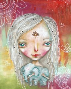 From India with Love - An original painting by Micki Wilde