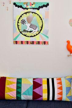 (via Leizys barslerier: Kunst på børneværelset: Collage med cirkustema)