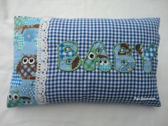 """Kussentje met Aplicatie """"Baby"""" Diaper Bag, Coin Purse, Cushions, Purses, Baby, Throw Pillows, Handbags, Toss Pillows, Diaper Bags"""