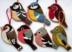 Фетровые птички - Море идей - рукоделие, декор дома, поделки и hand made.