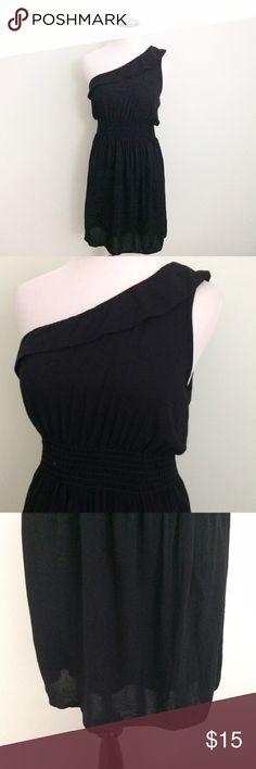 Max Rave Black one shoulder Dress One shoulder Dress. Rayon. Juniors large. Max Rave Dresses One Shoulder