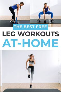 Sculpt, strengthen and tone every muscle in your lower body with these 5 BEST Leg Workouts at home! All you need is a set of dumbbells and 20-45 minutes (depending on the workout you choose!). Each includes a free full-length video, so all you need to do is press play and follow along!