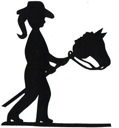 Littlest Cowgirl silhouette applique for quilt top kit