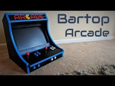 How To Build A Bartop Arcade Machine With A Raspberry Pi - The Guy From Pittsburgh ( tm ) - Arcade Bartop, Pi Arcade, Retro Arcade Games, Arcade Game Machines, Arcade Machine, Super Turbo, Fusion Design, Raspberry Pi Projects, Blue Color Schemes