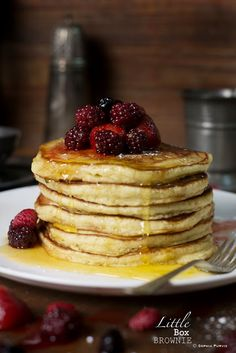 Orange Blossom Pancakes #Breakfast #Recipe