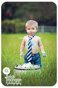 cake smash for a little boy... soo cute