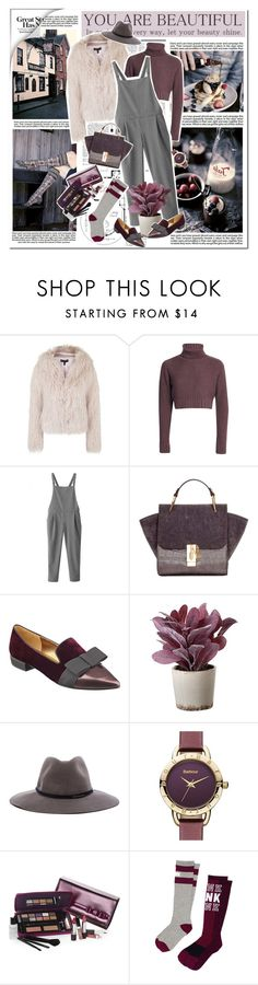 """Cropped Faux Fur Coat"" by monazor ❤ liked on Polyvore featuring Industrie, Nicki Minaj, Topshop, Nine West, Torre & Tagus, rag & bone, Barbour, Elizabeth Arden, Victoria's Secret PINK and women's clothing"
