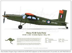Pilatus PC-6 A14-652 Green 1975 - Click Image to Close