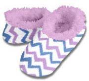 Ikat Chevron Snoozies Fleece Foot Coverings-New!