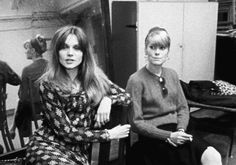 *-* Françoise Dorléac and Catherine Deneuve being interviewed during rehearsals for The Young Girls of Rochefort (1967)