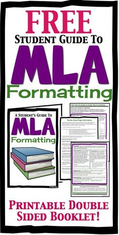 FREE MLA Formatting Booklet For High School Students by Presto Plans #Essay #MLA #Formatting