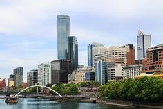 going to Melbourne skyline, Australia. Places Around The World, Around The Worlds, Melbourne Skyline, Places To Travel, Places To Visit, Work In Australia, South Island, Small Island, Urban Design