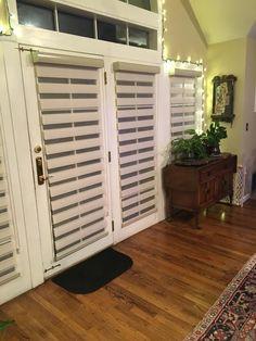 Blinds.com Premier Flat Sheer Shade in Veranda Cloud. #homedecor #interiordesign #livingroomideas #patiodoor #decorideas #windowtreatments