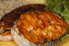 Bone Suckin'® King Mackerel Steaks are an easy, two ingredient recipe to make! You will love this Mackerel marinated in Bone Suckin'® Sauce! Salmon Steak Recipes, Fish Recipes, Seafood Recipes, Surimi Recipes, Endive Recipes, Fish Dishes, Seafood Dishes, Mackeral Recipes, Eating Clean