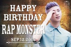 BTS JAPAN OFFICIAL [160912] #모니생일ㅊㅋ #HappyRMDay #HappyNamjoonDay Trans @BTS_jp_official  : [HappyBirthdayMoni]  Today is the birthday of BTS' Leader RAP MONSTER ! From now on,please continue make alot a nice songs , not only as an idol but as an artist as well!  Credits :
