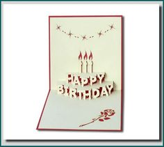 Free Printable Birthday Card Template Card Making Idea Step Popup Card Tutorial  Card Tutorials .